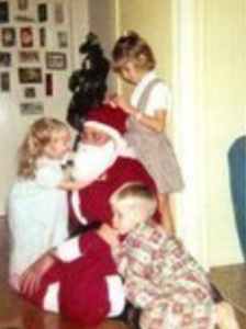 Little Jimmy clearly embracing Christmas- years before we met...