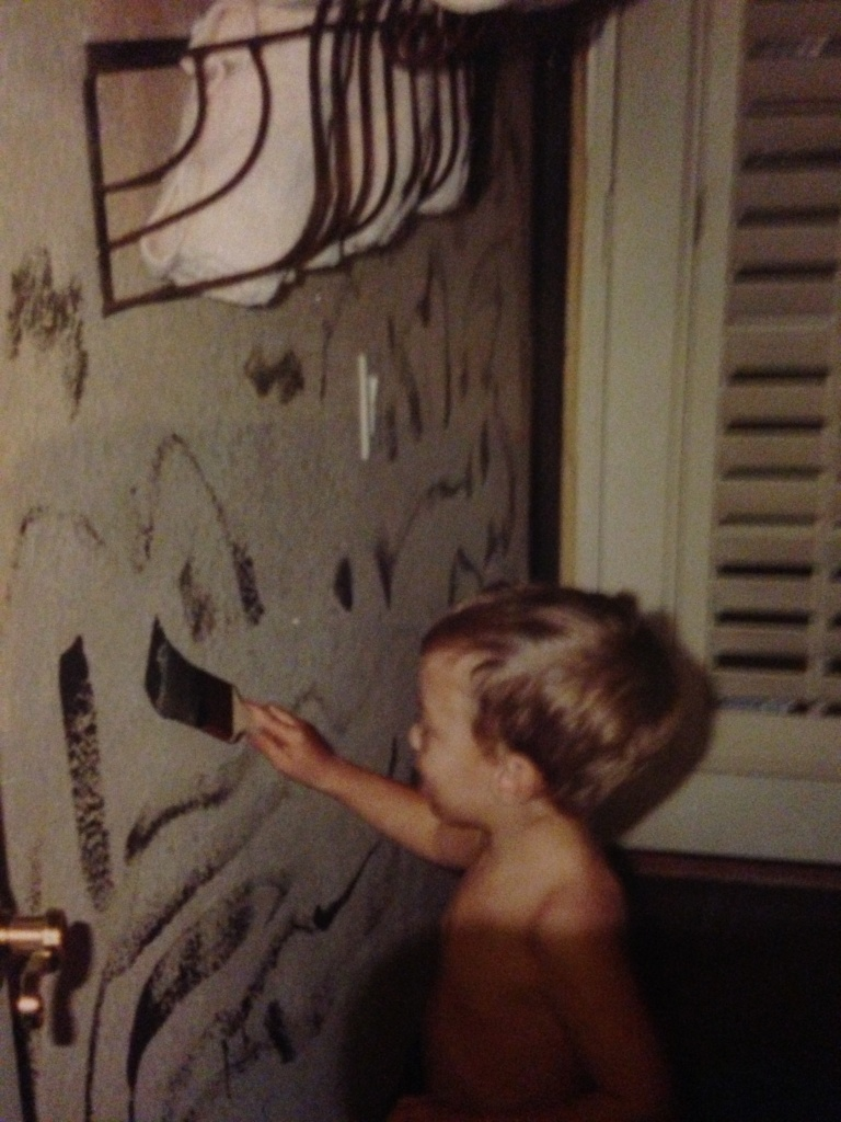 The last time we trusted James to paint the house...
