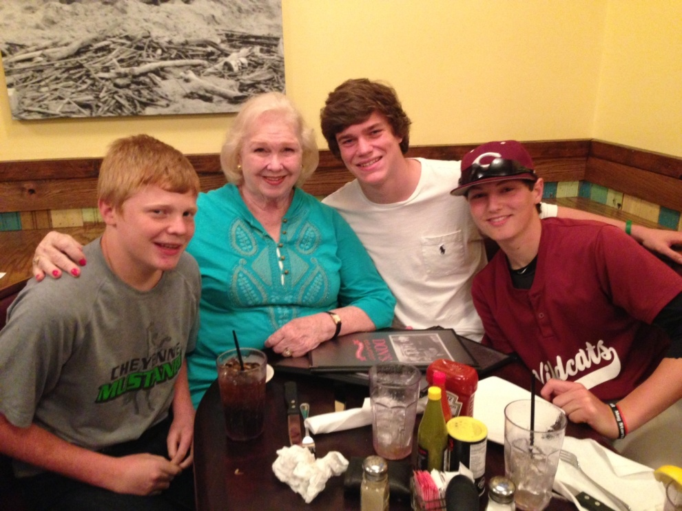 Mimi - with the only men that truly matter...