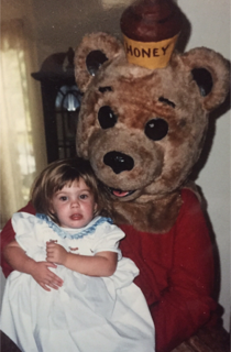 2nd  Birthday Bash with Winnie-the-Pooh (now age 90) and Emilie (almost 30)